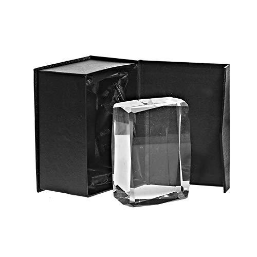 CRISTALICA Glasblock Würfel Cube Jamin Briefbeschwerer für Lasergravur aus Glas 10cm