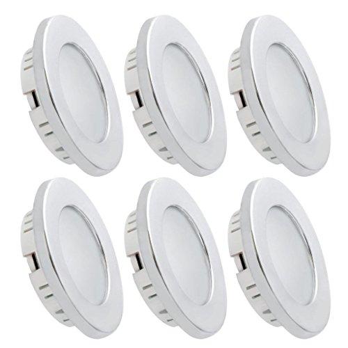 Dream Lighting 12v Deckenleuchte LED Innenbeleuchtung Einbauleuchte Warmweiß 6 Stück in jeder Packung