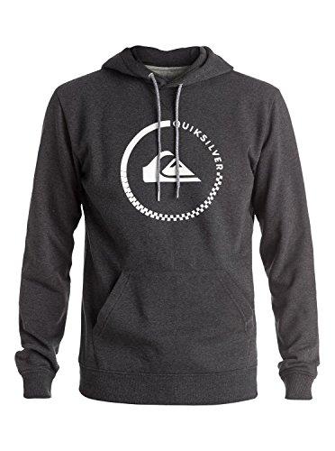 Quiksilver Herren Fleece Top Big Logo Hood M OTLR, grau, XXL
