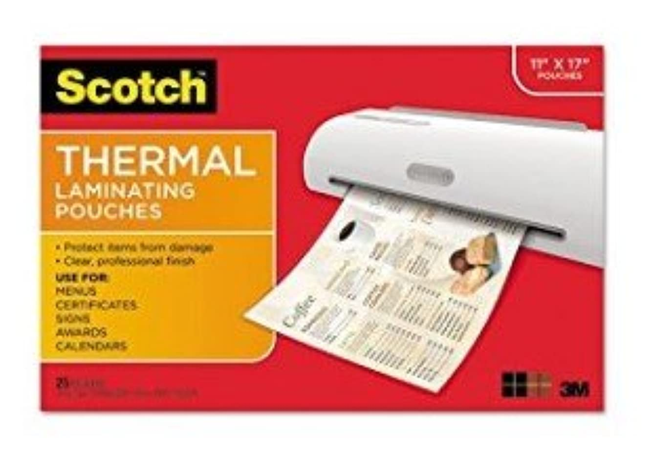 3M TP3854-25 Thermal Laminating Pouches44; Letter Size