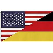 Fahne / Flagge Deutschland / USA NEU 90 x 150 cm Farbe Deutschland/USA