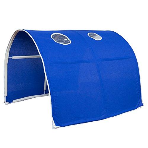 Homestyle4u 1441, Kinder Tunnel Für Hochbett, Blau, Baumwolle, 90 cm Breit