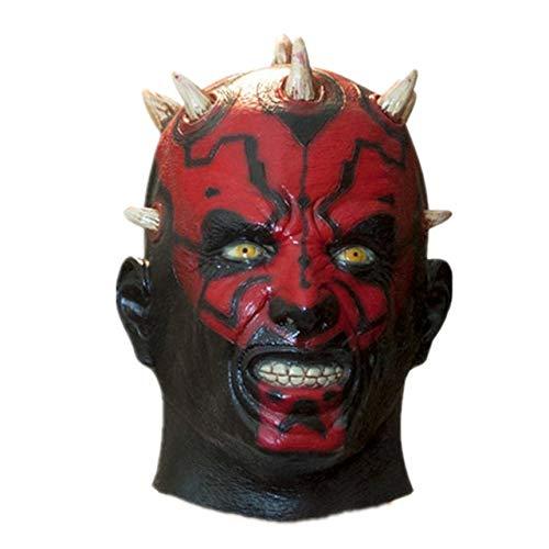 JNKDSGF Horror maskLatex Film Darth Maul Masker Volledige Hoofd Enge Halloween Hoofd Masker Voor Kostuum Cosplay Party Ball Fancy Jurk