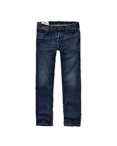 Hollister New Classic Straight Jeans Azul Hombres W 26 X L 30