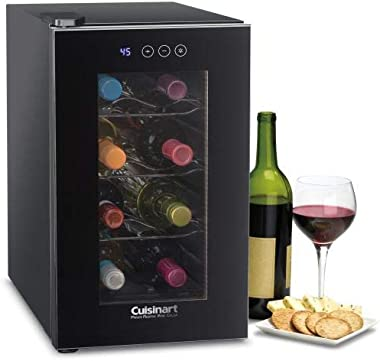 Cuisinart CWC-800CEN 8-Bottle Private Reserve Wine Cellar, Black