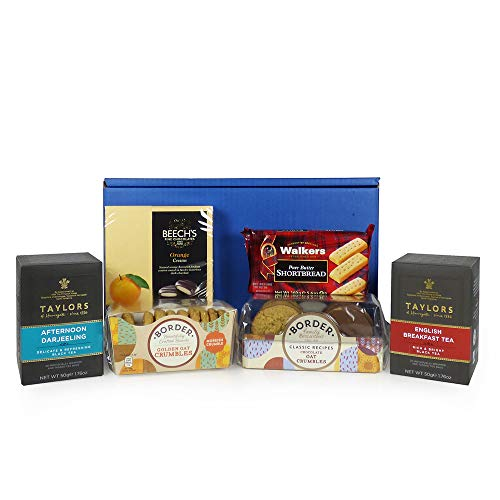 Fine Food Store Confezione Regalo Classica per tè e Biscotti Compleanno, Come Ringraziamento Bello, Presto