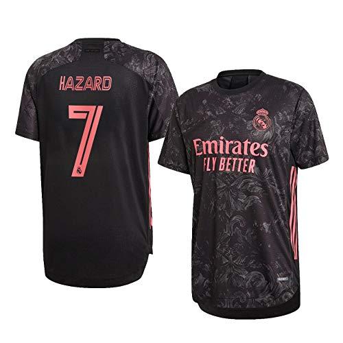 F-shop Eden Hazard Real Madrid Schwarz,Maillot Eden Hazard Trikot 2020/21 für Herren & Jungen(Schwarz,20)
