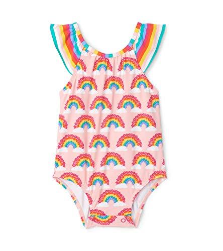 Hatley Baby-Mädchen Ruffle Swimsuits Badeanzug, Rosa (Magical Rainbows 650), 68