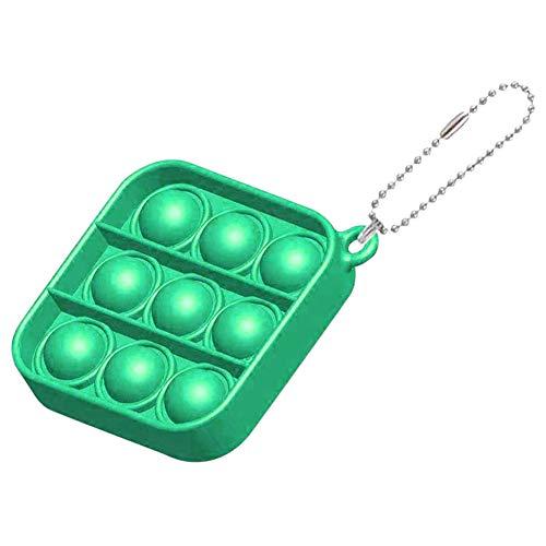 Hihamer Lot de 2 mini jouets simples en forme de fossette, porte-clés pour enfants et adultes (vert)