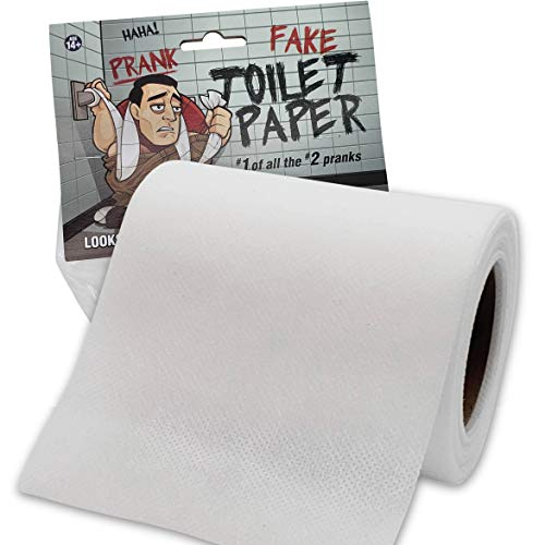 'No Tear' Funny Prank Toilet Paper - Impossible to Rip -Fake Novelty Stuff for Adults and Kids - Gag Non Rip Paper - Hilarious and Shocking Joke that will have your Friends and Family in Stitches