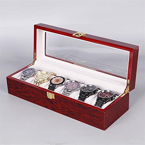 ROTAKUMA Gitter Holz Uhrenbox Schmuckschatulle Display Watch Fall Halter Organizer Für Uhren Männer Geschenk (Color :...