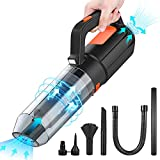 Electric Compressed Air Duster, 6000 PA Powerful Air Blower & Vacuum 2-in-1, Handheld Duster Keyboard Cleaner, Portable Computer Cleaner, Replacement for One-time Canned Air
