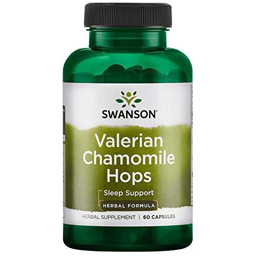 Swanson Valerian Chamomile Hops Sleep Complex 60 Capsules