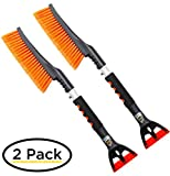 "Snow Moover 24"" Snow Brush with Ice Scraper 2 Pack – Comfortable Foam Grip..."