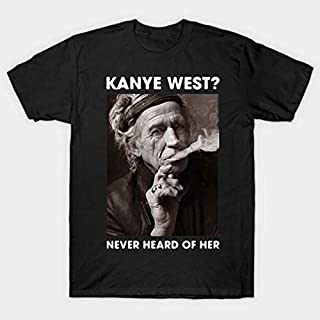Keith Richards Kanye West Never Heard Of Her Canvas Unisex Shirt