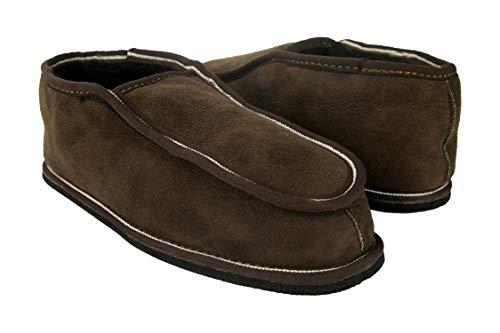 Zerimar Pantoffeln für Zuhause (Innen Fell von Außen Leder) Hausschuhe Bequeme Hausschuhe Aus Echtem Leder