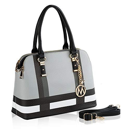 MKF Crossbody Satchel Bags for Women – PU Leather Shoulder Pocketbook Handbag – Lady Top Handle Tote Purse Black