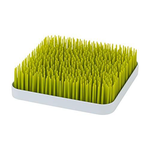 Boon GRASS Abtropfgestell mit praktischer Auffangschale für die Küche, Stylisches zweiteiliges Trockengestell in Grün, Baby Erstausstattung, Trockenständer für Babyflaschen, Baby Zubehör