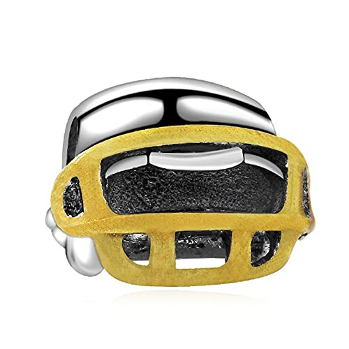 Pandora 925 Sterling Silber DIY Schmuck CharmNew Rugby Cap Charms Mode Perlen Anhänger Armband Schmuck Fit Armband für weibliches Geschenk