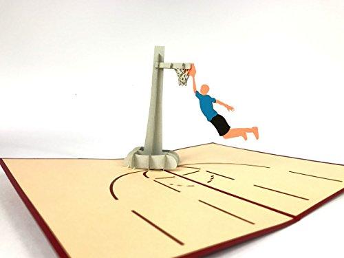 BASKETBALL Field 3D Pop up Grußkarte handgefertigt Happy Birthday Hochzeitstag Freundschaft Thank You Best Wish Viel Glück Ostern Vater 's valentine 's day Congratulations