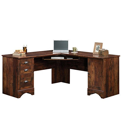Sauder Harbor View Corner Computer Desk Curado Cherry finish