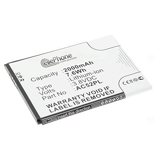 cellePhone Akku Li-Ion kompatibel mit Archos 52 Platinum (Ersatz für AC52PL)