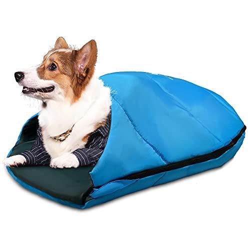 GEERTOP ペット寝袋 ペット布団 犬猫用ベッド 洗える ペットクッション ペット防災グッズ スリーピングバッグ スリーピングベッド 洗濯可能 ペット ベッド キャンプ ハイキング ビーチ用 犬用ベッド