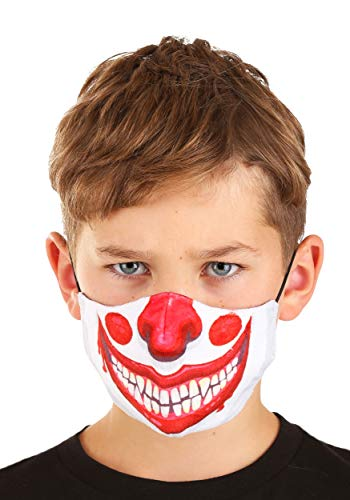 Child Clown Sublimated Face Mask - ST Red, White
