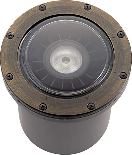 Kichler 16025CBR27 Ground from Landscape LED Collection 7.00 inches, Centennial Brass