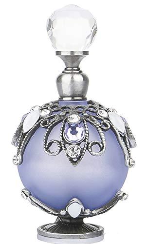 YUFENG - Botellas de Perfume vacías rellenables con diseño de Flores de ratán