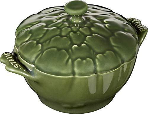 STAUB - Artischoke - Auflaufform, Suppenteller, Cocotte - Keramik - Farbe: Grün - Volumen: 0,5 Liter