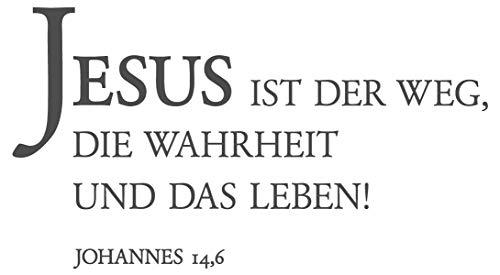 dekodino® Wandtattoo Christliche Sprüche Jesus ist der Weg und das Leben Deko