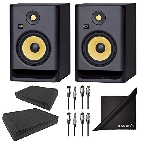 Buy Cheap KRK ROKIT RP7G4 7 G4 6.5 Studio Monitoring Speakers w/AxcessAbles Isolation Pads, Audio C...