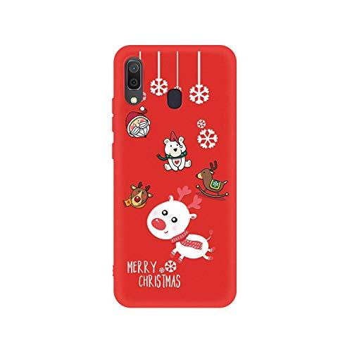 Nueva caja suave del teléfono de la Navidad del silicio para Samsung Galaxy A50 A30 A70 A10 A20 A40 A7 2018 A750 de la historieta Santa Claus Elk TPU Casoses-05-A50