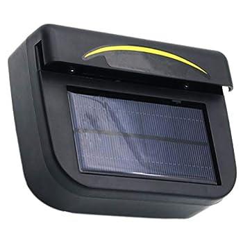 Wakauto Solar Powered Car Fan Solar Car Window Windshield Auto Air Vent Vehicle Ventilation Cooling Fan Car Window Air Fan