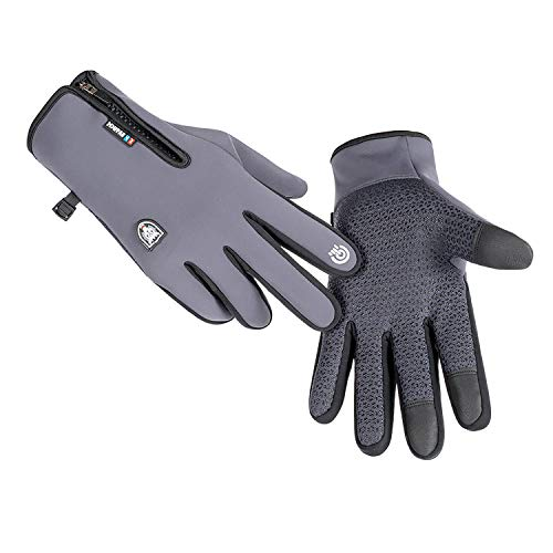 Winter Gloves for Men Women,Cold Weather Thermal Glove Windproof Water Resistant,Keep Warm Touch Screen Gloves for Cycling Running Driving