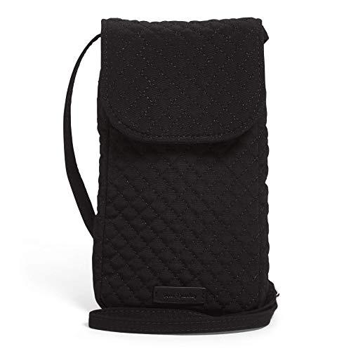 Vera Bradley Microfiber Carson Cellphone Crossbody Purse, Classic Black