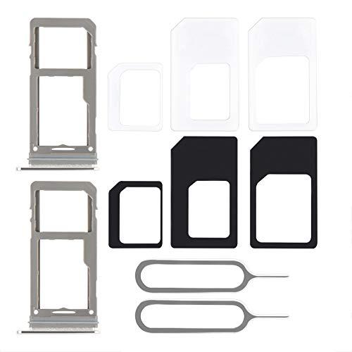 DanziX Ranura para Soporte de Bandeja de Tarjeta SIM de 2 Piezas,reemplazo de Soporte de Tarjeta Adaptador de Tarjeta SIM y Pin de expulsión Abierto de Bandeja Compatible con Samsung Galaxy S8