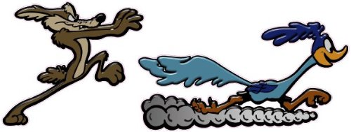 Coyote and Road Runner Decal is 7