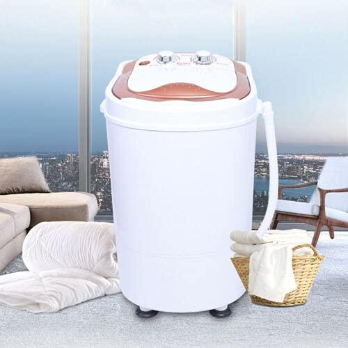 Lavadora portátil de una sola tina de 3 kg Lavadora de Lavandería Deshidratación para Dormitorios Apartamentos Viajes Camping