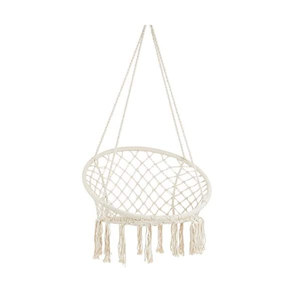 Project One Macrame Hanging Hammock Chair, Hand Woven Rope Hammock Swing Chair for...