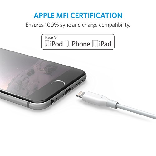 Renewed Blue and More Anker iPhone Charger Anker Powerline 6ft Lightning Cable MFi Certified USB Charge//Sync Cord for iPhone Xs//XS Max//XR//X // 8//8 Plus // 7//7 Plus // 6//6 Plus // 5s // iPad