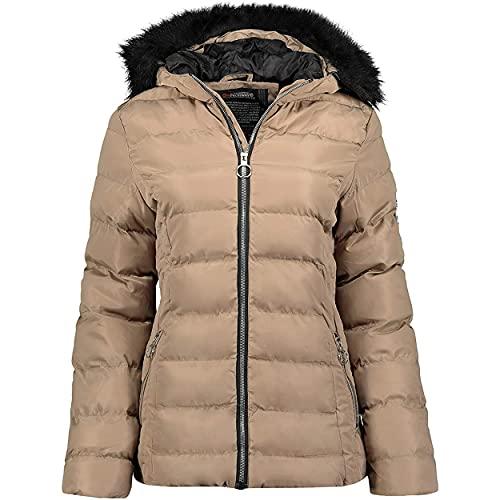 Geographical Norway Angely Lady - Damen Warmer Wasserdichter Parka - Dicker Kapuzenmantel Outdoor - Warme Winter Windbreaker Jacke - Outdoor Futter Jacke Frauen Maulwurf S