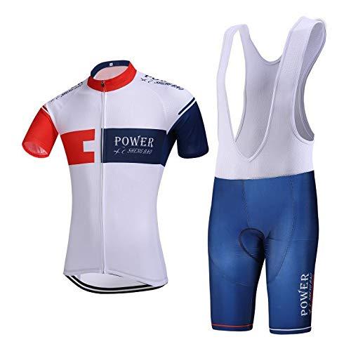 Heren Compressie Shirt Set Short-Sleeved Fiets Jersey Ademend Wicking Sneldrogende Mountainbike Team Kleding