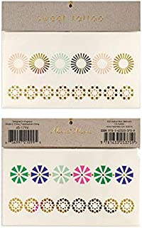 Meri Meri Geo Flower Tattoos - 6 Pack Bundle