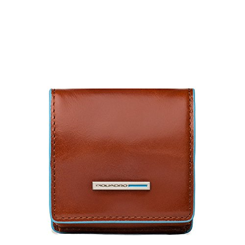 Piquadro PU2634B2 Portamonete, Collezione Blu Square, Arancione