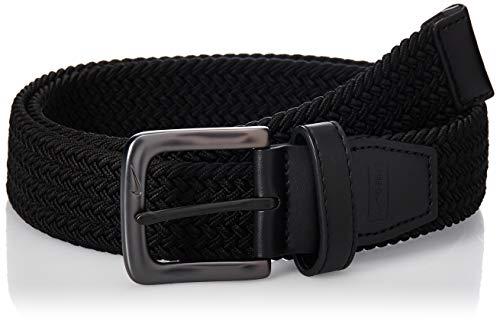 Nike Men's Standard G-Flex Woven Stretch Golf Belt, black, Small