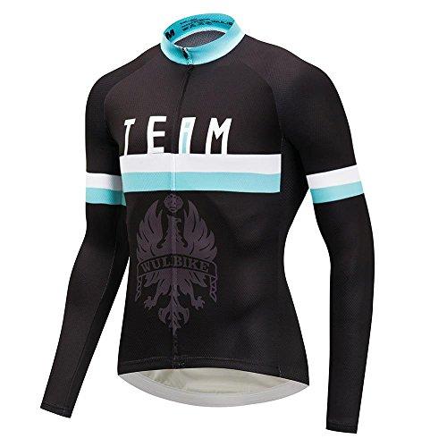 logas Pro Team Radtrikot Langarm Biking Shirt Trägerhose Blau Schwarz