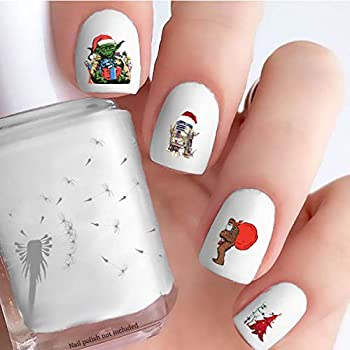 Star Wars Christmas  Clear Water-Slide Nail Decals