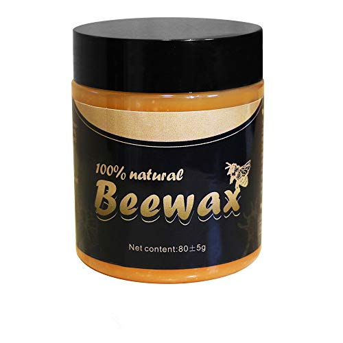 Wood Seasoning Beewax, Natural Traditional Beeswax Polish Wood Furniture Cleaner for Wood Doors, Tables, Chairs, Cabinets and Floors for Furniture to Beautify & Protect (3 OZ)